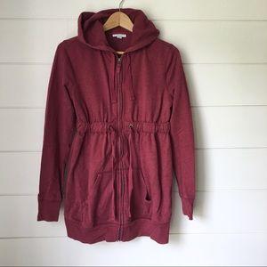LIZ LANGE Hooded Zipper Sweatshirt